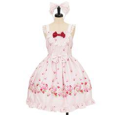 ♡ BABY THE STARS SHINE BRIGHT ♡ Cherry Rose jumper skirt + Bow Headband http://www.wunderwelt.jp/products/detail9410.html ☆ ·.. · ° ☆ How to buy ☆ ·.. · ° ☆ http://www.wunderwelt.jp/user_data/shoppingguide-eng ☆ ·.. · ☆ Japanese Vintage Lolita clothing shop Wunderwelt ☆ ·.. · ☆ #sweetlolita