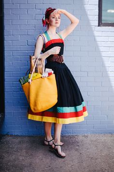 vintage bag with vintage dress