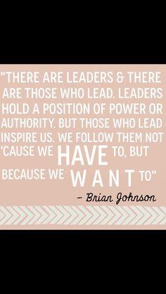 Leaders inspire