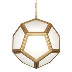 Robert Abbey Mary Mcdonald Pythagoras Pendant In Matte Brass - Robert-abbey-2672 | Candelabra, Inc.