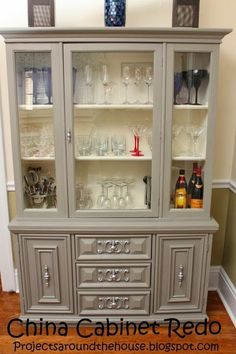 wOW, what a difference. Grandma's china cabinet transformed ...