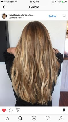 Color and length, # length, coloridea, hair color idea, – color and color … - Lange Haare Ideen Balayage Hair Blonde, Blonde Highlights On Brown Hair, Sandy Blonde Hair, Sandy Hair, Dark Hair, Hair Looks, Hair Lengths, New Hair, Hair Inspiration