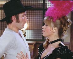 Jim Dale and Edina Ronay in Carry On Cowboy. 1965