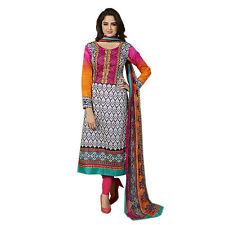 New Indian Ethnic Fancy Designer Salwar Kameez Cotton Churidar Printed Dress