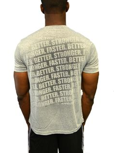 """Neat, Sweat activated shirts. Good for gifting maybe? Men's """"Faster, Better, Stronger"""" Short Sleeve"""