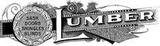 Antique Lumber Trade Sign - Typography! - The Graphics Fairy