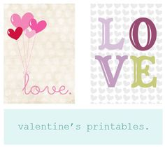 Daffodil Design {freebie} printable valentine's prints.
