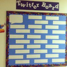 Twitter bulletin board - interactive twist on the bulletin board