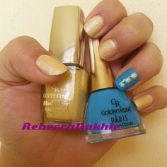 Textured Pastel Yellow and Blue Nails using Golden Rose-Holiday #74 and Golden Rose-Paris #204