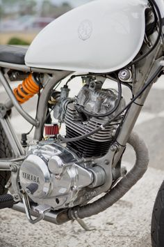 "Custom Yamaha SR125 Scrambler named ""Clockwork Orange"" by Unikat Motorworks."