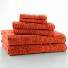 Quick-Drying Textured 6-pc. Bath Towel Set
