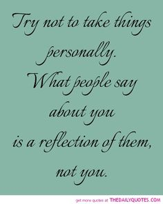 Easier said than done sometimes...