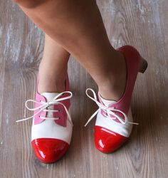 Would be a great swing dancing shoe, lovely leather.  OSHADI RED :: SHOES :: CHIE MIHARA SHOP ONLINE