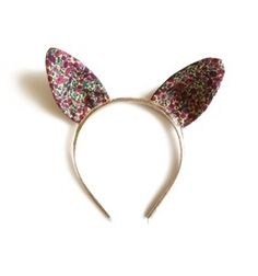 rabbit ear head band - petal and bud pink.  Woodstock london