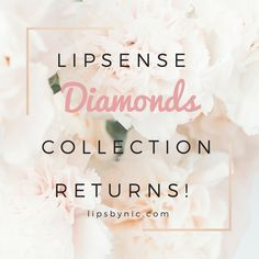 To learn more about how to get your hand on the prettiest Diamond infused lipstick you've ever seen, click the pin!  https://lipsbynic.com/2017/11/15/diamond-collection/