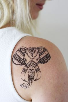 Who doesn't love elephants? I certainly do! How about a temporary tattoo of an elephant? This one is just perfect for a bohemian summer. ...............................................................