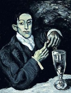 Pablo Picasso: The absinthe drinker, 1903.