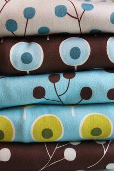 Fat Quarter  Organic Cotton Interlock Knit  MOD door WonderFluffShop