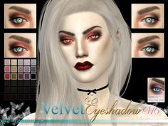 The Sims Resource: Velvet Eyeshadow N16 by Pralinesims • Sims 4 Downloads