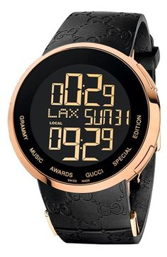 LIMITED EDITION:Gucci 'I-Gucci - GRAMMY Awards®' Digital Watch, 44mm available at #Nordstrom $1495