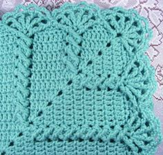 Granny Twist Car Seat Baby Afghan border
