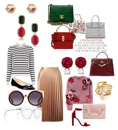 """Sweetly Classic"" by vivi33a ❤ liked on Polyvore featuring Yves Saint Laurent, Dolce&Gabbana, Oasis, Michael Kors, Tory Burch, Kate Spade, Miss Selfridge, Henri Bendel, Jemma Wynne and Hermès"