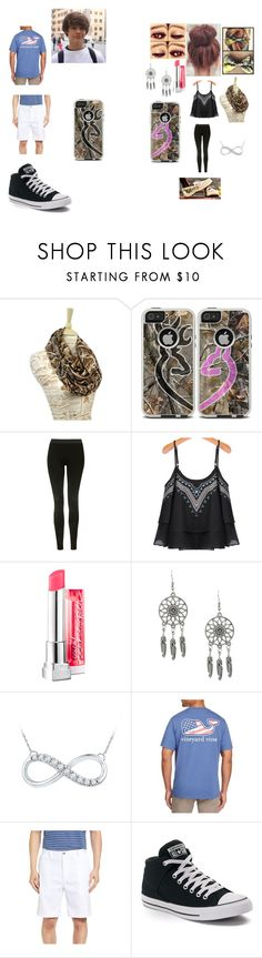 """""""Church w/ your boyfriend"""" by bella-mendenhall ❤ liked on Polyvore featuring Realtree, OtterBox, Topshop, Maybelline, Vineyard Vines and Converse"""