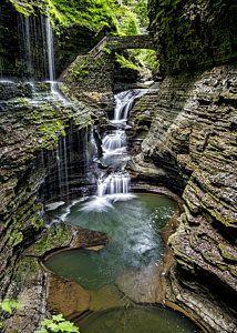 Rainbow Falls - Watkins Glen by Stephen Stookey