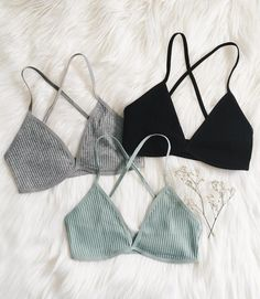 a ribbed grey bra to buy on gearbest
