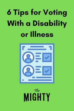 Know your rights and speak up if you encounter inaccessibility at the ballot box. #voting #disability #democracy #votingrights #disabilityrights