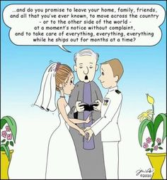 Vows you should have taken as a military wife...