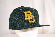 cheap for discount 8ab2a 24862 Baylor University Bears Green Yellow Baseball Hat Cap Snapback