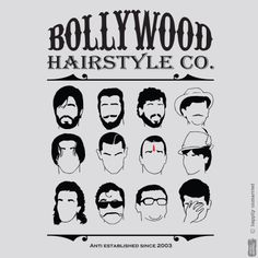 Bollywood hairstyle t-shirt... Get this here -> http://bit.ly/bollywood-tee