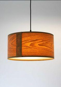Oak Pendant lamp shade...