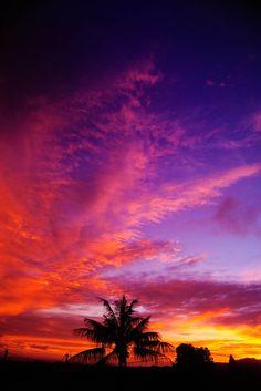 Colorful sunset Mauritius #mauritius #sunset #travel #harveyworld #beautifulworld #honeymoon #colours #colourfulworld