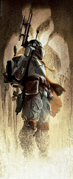 Disney, If you have any business sense at all about what to do with the Starwars franchise, make a Boba Fett movie. Bd Star Wars, Star Wars Yoda, Star Wars Boba Fett, Star Wars Art, Star Trek, Boba Fett Art, Starwars, Film Sf, Chasseur De Primes