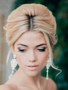 maquillage mariée naturel: fard discret, eye liner, mascara et lèvres nude