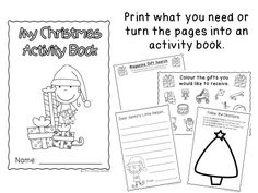 Christmas no prep activity booklet - US and Australian spelling!