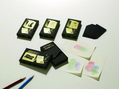 「Letter's vignette」Each embossed card can be used to transfer intricate designs, adding a decorative touch to letters, envelopes, memos… Images are transferred by rubbing with a (colored) pencil in a technique known as frottage.