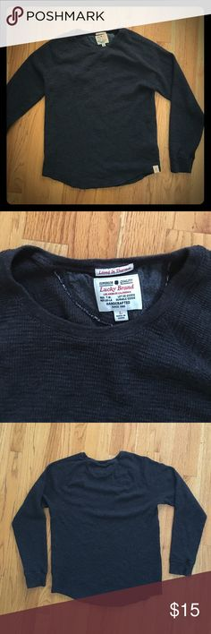 Lucky Brand Lived in Thermal Dark grey. Excellent condition Lucky Brand Shirts Tees - Long Sleeve
