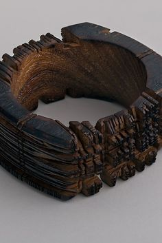 The New World Order - Hand-sawn Wooden Bracelet