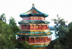 New print available on lanjee-chee.artistwebsites.com! - 'Summer Palace In Beijing' by Lanjee Chee - http://lanjee-chee.artistwebsites.com/featured/summer-palace-in-beijing-lanjee-chee.html