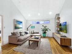 REALITY TV stars Kyal and Kara have put their Block prize money to work on their own renovation project and are hoping it pays off on auction day. Interior, Renovation Project, Home Design Living Room, Kyal And Kara, Lounge Room, Interior Design, Floating Lounge, Renovations, Living Room Designs