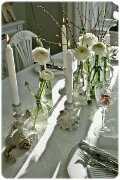 You can`t use up CREATIVITY. Shades Of White, Color Shades, Place Settings, Table Settings, Vibeke Design, Centerpieces, Table Decorations, Pretty Designs, Spring Time