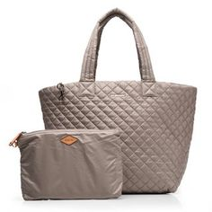 MZ Wallace | Taupe Oxford Large Metro Tote