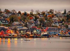 Fall in Lunenburg, Nova Scotia, Canada Beautiful Places In The World, Places Around The World, Around The Worlds, Amazing Places, O Canada, Canada Travel, Lunenburg Nova Scotia, Lunenburg Canada, East Coast Canada