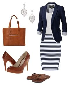 Dream dress outfits - teacher on a budget mode moda, atuendo Mode Outfits, Office Outfits, Dress Outfits, Casual Outfits, Striped Outfits, Teacher Outfits, Striped Skirt Outfit, Navy Outfits, Work Dresses