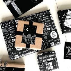 Sinterklaas feestdecoratie | JETJESENJOBJES.NL (TIP) Birthday Gift Wrapping, Birthday Gifts, Birthday Cakes, Saint Nicholas, Brand Packaging, Free Printables, Projects To Try, December, Wraps