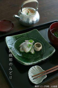 【楽天市場】織部5.5寸角皿・長森慶:和食器の愉しみ 工芸店ようび