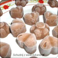 Czekoladki z pomarańczą i chilli - dukan Stuffed Mushrooms, Muffin, Pudding, Sweets, Candy, Cheese, Vegetables, Cooking, Breakfast